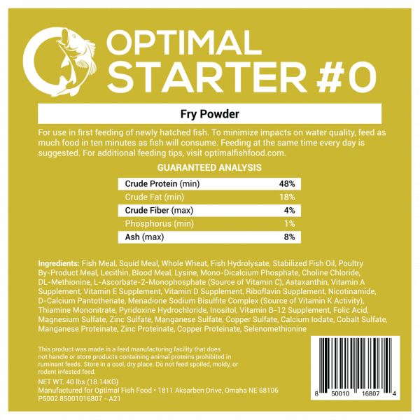 Optimal Starter Fish Food 0