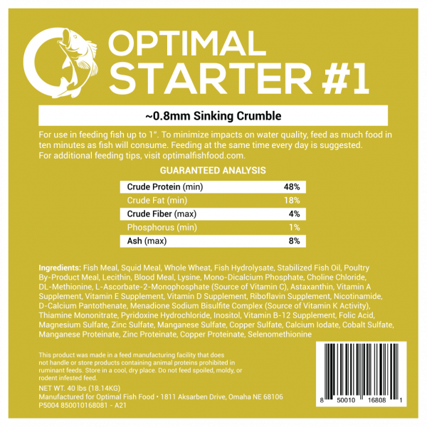 Optimal Fish Food Starter Feed 1
