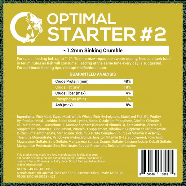 Optimal Starter Feed Fish Food 2